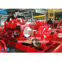 NFPA 20 Standard Diesel Engine Fire Fighting Pump Set with Horizontal Split Case Fire Pump Manufactures
