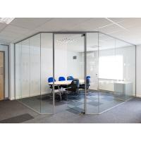Clear Tempered Modern Office Glass Partition System Easy For Cleaning Manufactures