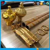 Factory price anodized aluminium engraving pipe curtain rods/poles Manufactures