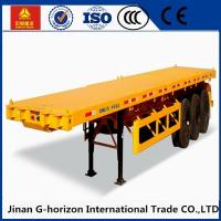 13T Fuwa Axle 40 ton Flat Bed Semi Trailer , Container Semi Trailer Yellow Red Green Blue Manufactures