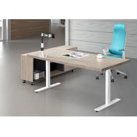 Height Adjustable Training Room Tables , Training Table Furniture 1800mm Length Manufactures
