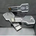 Transparent Key Shape Crystal   Mini Usb Pen Drive Thumb Drive  16GB   4GB 8GB Manufactures
