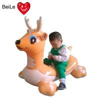 PVC EN71 lovely inflatable rider on deer for swimming pool Manufactures