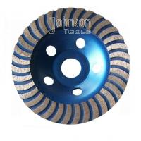 China Turbo Cup 5 Inch 125mm Diamond Grinding Disc For Stone With M14 Thread on sale