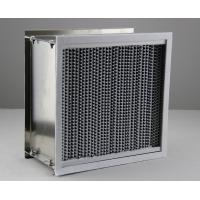 SS Frame High Temperature Air Filter H13 Hepa Air Purifier Aluminum Foil Separator Manufactures