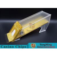 Anti - Cheating Casino Card Shoe / 8 Deck Shoe With Customized Logo Print Manufactures