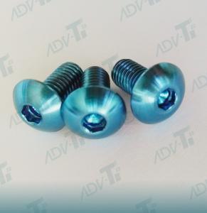 Corrosion Resistant Titanium Fastener , Decorative Shining Blue Titanium Screws Manufactures