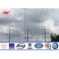 Durable Q235 Conoid Galvanized Steel Transmission Poles For ElectricityDistribution Manufactures