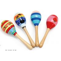 Wood Toy Music Instrument , Cute Colored Orff Wooden Maracas Manufactures