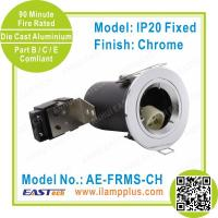 IP20 Fixed Chrome Fire Rated Downlight | 90 Minute Fire Rating | Twist Lock Manufactures