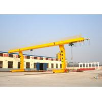 Quality Container Single Beam Gantry Crane 10 Ton L Shape For Workstation Yello Blue for sale