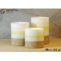 China Mini Lovely 3 Set Flameless Pillar Candles Battery Operated Creative Lighting on sale