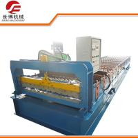 970 Model Color Coated Steel Sheet Roll Forming Machine / Tile Sheet Forming Machine Manufactures