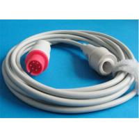 AAMI Mindray / Spacelabs Ibp Cable , 6 Pin Connector Blood Pressure Cable Manufactures