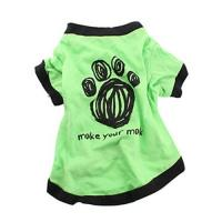 Quality green Pet Puppy Summer Shirt Pet Clothes T Shirt with printing for sale
