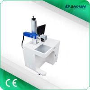 China Desktop Fiber Laser Marking Machine / Laser Writing Machine Compact Design on sale