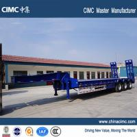tri-axle 80 tons lowbeds semi trailer with 315/80R22.5 tires Manufactures