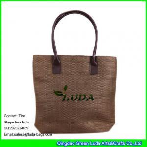 LUDA ladies straw fashion handbag economic paper straw tote bag Manufactures
