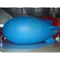 Durable Advertising Helium Zeppelin , Blue Waterproof Inflatable Blimps Manufactures