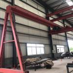 Electric Semi Gantry Crane Light Duty Semi Single Girder Gantry Crane Manufactures