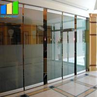 China Collapsible Office Folding Partition Walls Glass Folding Door 12mm Frameless Operable Glass Partition System for sale