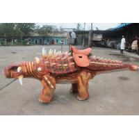 China Remote Control Mechanical Animatronic Dinosaur Ride With Soft Silicone Rubber Skin on sale
