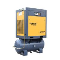 Screw air compressor with air receiver and dryer. Manufactures