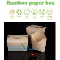 China Customized kraft floding lunch takeaway packaging box,Kraft Paper Lunch Box Disposable Salad Box Food takeaway Packaging on sale
