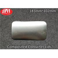 Recyclable Foil Tray Lids Aluminium / Paper Composited 183mm×102mm Size