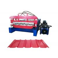 China Customized Color Roofing Sheet Roll Forming Machine With 1mm Tolerance Encoder on sale