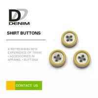 Resin Plastic Dress Shirt Buttons , Yellow Boy Or Girl Buttons 12L 14L 16L 18L Manufactures
