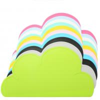 47.5*27cm Waterproof Silicone Placemat Bar Mat Baby Kids Cloud Shaped Plate Mat Table Mat Set Home Kitchen Pads for sale