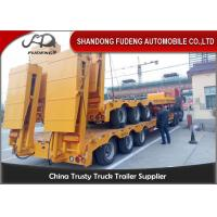 China 80 ton Gooseneck low loader Low Bed Tractor truck trailer sale Hydraulic ramp on sale