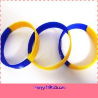 Buy cheap handmade silicone bracelet with debossed logo from wholesalers