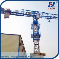 QTZ125 PT6016 Mobile Tower Crane 60m Boom 10 Tons 50m Height Price Manufactures