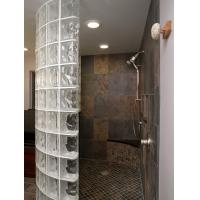Classic Transparent Glass Shower Partition , Glass Blocks For Hotel / Club Manufactures
