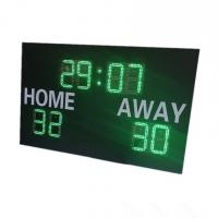 China Green Color Led Digits with White Color Stickers Led Football Scoreboard for football field on sale