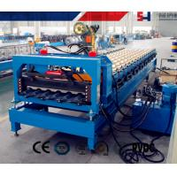 China Safe Cold Roll Forming Machine Blue For Pre Cutting Metal Sheets on sale