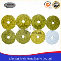 100mm Diamond Wet Polishing Pad / Polishing Discs For Granite Marble Products Manufactures