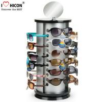 Counter Top Sunglasses Display Case Round Shape Metal Eyeglass Display Rods Manufactures