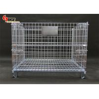 1500kg Steel Grid Logistics Storage Cage With 6mm Thick Wire Diameter Manufactures