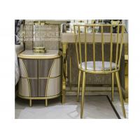 Modern Bedroom Stainless Steel Furniture Study Table Chair with Golden Color Manufactures