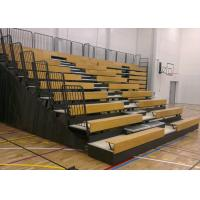 Timber Bench Modular Grandstands With Non - Marking Polyurethane Face Wheels Manufactures