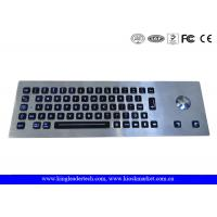 Quality Waterproof Kiosk Illuminated Metal Keyboard With Trackball And 64 Led-Backlit Keys for sale