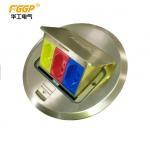 Round 3 Way Pop Up Floor Outlet , Floor Receptacle Socket Box ODM Service Manufactures