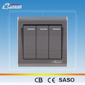 LK6005 white color rocker PC wall switch