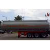 37m3 Oil Tank Truck For Anti - Corrossive Sodium Hydroxide Sulfuric Acid Nitric Acid for sale