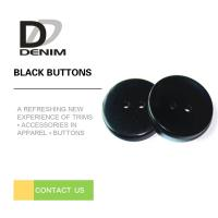 Fashionable Decorative Black Buttons Four Holes High Wear Resistance Manufactures