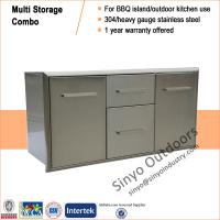 China BBQ Outdoor Kitchen Island Stainless Steel Door/Propane Drawer Combo 42 Inch on sale