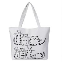 Quality Printed Cartoon Custom Shoulder Bags for women , Zippered Tote Bag for sale